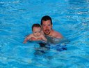 Eddie and Tim in the pool